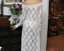 Wedding Sleepwear Bride Sheer Lace Bridal Nightgown Wedding Lingerie Romance Boudoir