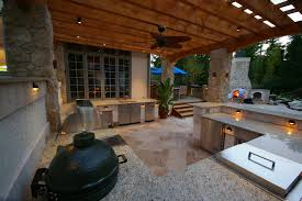 green egg outdoor kitchen patio traditional with barbecue