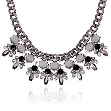 black statement choker necklace images New charming pendant chain crystal choker chunky statement bib jpg