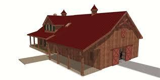 house barn combo floor plans wood floors
