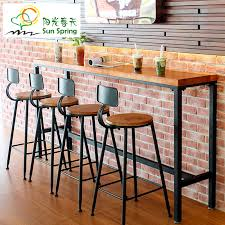 Wall Bar Table Iron Casual Cafe Bar Table Home Of Wood Against The