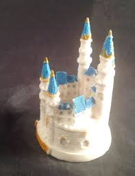 cinderella castle cake topper blue cinderella castle wedding cake toppers wedding cake cake