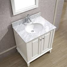 30 Inch Bathroom Vanity by Art Bathe Lily 30 Inch Contemporary Bathroom Vanity White Finish