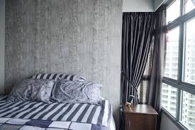 Hdb Bedroom Design With Walk In Wardrobe Medley Of Wood And Metal Create Rustic Ambience In Couple U0027s 4 Room