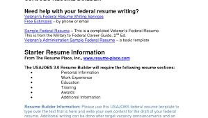 Usajobs Gov Resume Builder 100 Federal Resume Sample Examples Of Resumes 87 Enchanting