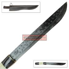 High Carbon Steel Kitchen Knives by High Carbon Steel Machete Blade Knife Hammered Texture Natural