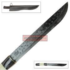 high carbon steel machete blade knife hammered texture natural