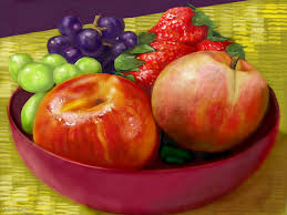 Bowl Of Fruits Bowl Of Large Fruit A Still Life Speedpaint Drawing By Betty
