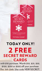 s secret cyber monday two free rewards cards free