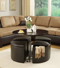 chocolate storage ottoman living room storage cube table set dark chocolate leather