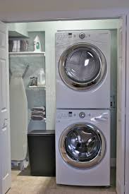 astonishing laundry room design with corner stacked laundry