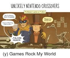 Professor Layton Meme - unlikely nintendocrossovers professor layton x f zero hey professor