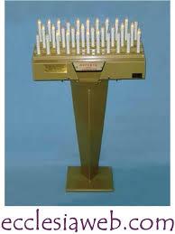 candelieri votivi candeliere votivo 32 candele elettronico automatico ecclesiaweb