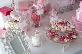 Pink And Black Candy Buffet by Black And Pink Baby Shower Color Theme Pink White Wedding Color