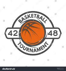 basketball template logo badge emblem stock vector 321510014