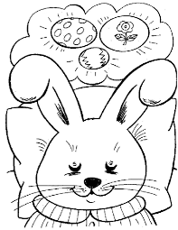 bunny thinking easter egg design ideas to color coloring pages