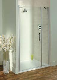italia latino semi frameless pivot shower door 1100 silver