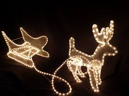 christmas decorations reindeer and sleigh light led lights