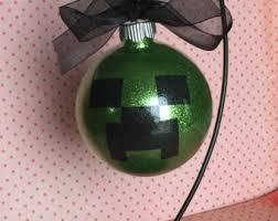 minecraft ornament etsy
