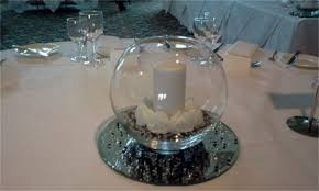 fish bowl centerpieces wedding simplicity table centrepieces