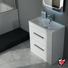Gloss White Vanity Unit Vanities White Gloss Vanity Unit 800 Patello 60 White Vanity