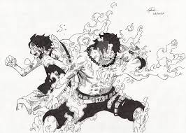 one piece luffy and ace by jdgonline on deviantart