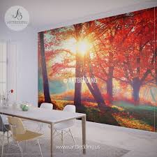 wall murals peel and stick vinyl self adhesive tagged autumn fall wall mural self adhesive peel stick photo mural forest wall mural