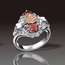 red rose rings images Gothic red rose skull ring fancy n love jpg