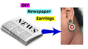 best out of waste from newspaper earrings how to make paper