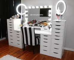 professional makeup desk makeup vanity with lighted mirror house decorations amazing table