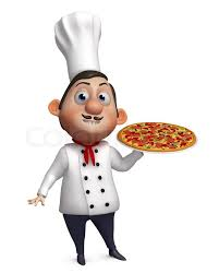 chef pizza 3d chef with a pizza stock photo colourbox