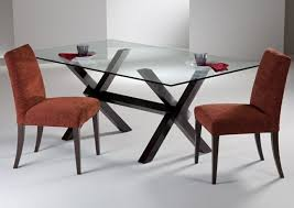 create modern dining room with glass dining table