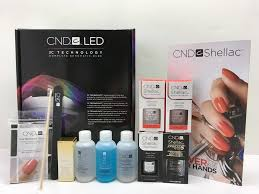 cnd 3c led l cnd shellac starter intro trial kit led lamp light any 2 gel base