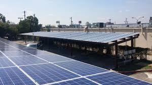 carports solar structure solarframe solar power parking lot tier