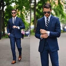 3 piece suit menswear wedding summer navy three piece