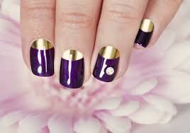 21 extremely half moon manicures you must try