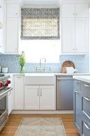 kitchen tile backsplash cool blue backsplash tile white and blue kitchen with blue walker