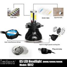 amazon com imosontec 9012 g5 led headlights for cars super bright