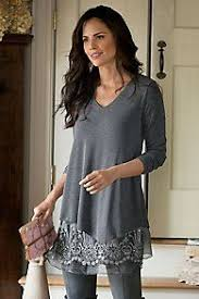long sleeves lace panel top dove grey gray and clothes