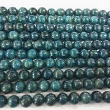 Handcrafted Handmade Semiprecious Gemstone Beaded Apatite Round Beads Beadage