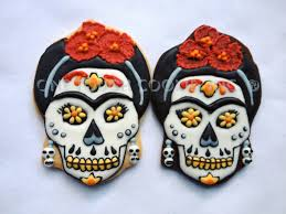 Halloween Cookie Cakes Skulls Day Of Te Dead Cookies Halloween Frida De Los