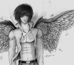 drawn angel black angel pencil and in color drawn angel black angel