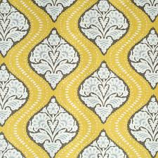 Yellow Home Decor Fabric Yellow And Brown Upholstery Fabric 2 5 Yards Home Decor Fabric