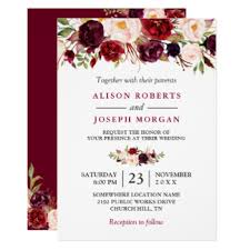 Rustic Wedding Invitations Cheap Https Rlv Zcache Com Watercolor Burgundy Red Flo