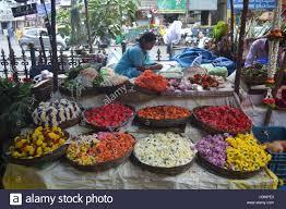 Flowershop A Flower Shop In Gandhi Bazaar Bangalore Stock Photo Royalty Free