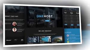 onehost one page responsive hosting html5 template video