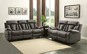 White Leather Recliner Sofa Set by Homelegance Ackerman Reclining Sofa Set Grey Bonded Leather
