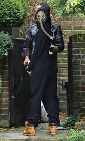 gas mask costume cara delevingne wears a gas mask in fashion statement or