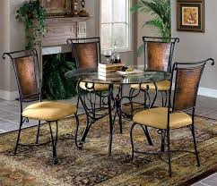 Glass Round Kitchen Table by Wrought Iron Kitchen Table Sets Kitchen Dining Sets Glass Glass