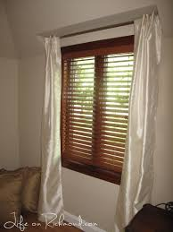furniture how to hang curtains with recessed gallery window